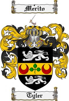 Tyler Coat of Arms Tyler Family Crest Instant Download - for sale, $7.99 at Scubbly
