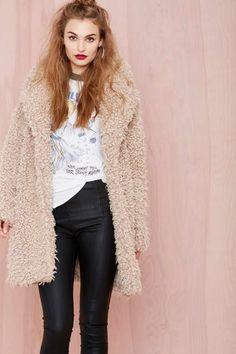 Super Trash Fur Keeps Coat - Jackets + Coats