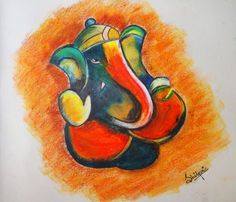 GANESHA - Painting by Shilpi Das Choudhury in My PAINTINGS in various Mediums.. at touchtalent 12470
