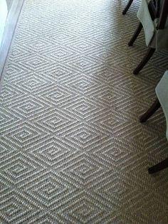 Diamond sisal rug for dining room Carpet Flooring, Rugs On Carpet, Sisal Carpet, Sisal Stair Runner, Stair Runners, Staircase Runner, Hallway Carpet, Stair Carpet, Carpet Stores