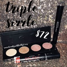 Younique's March customer kudos!  Build your own quad palette, pick your Splash liquid lipstick color, and you get an epic mascara! 30% off retail! Www.beautywithhollya.com click shop then kudos