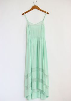 Looks so comfortable for late September when it is insanely hot. Mint Green Lace Cut Out Dress