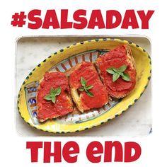 1830: e anche la salseira è alla fine  #salsaday #bruschetta #italianfood #foodporn #foodforthesoul