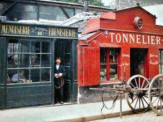 Vous allez en prendre plein les yeux ! Voici Paris il y a 100 ans... et en couleurs ! Superbe ! : Les 8 et 10 rue Montparnasse. © Musée Albert Kahn