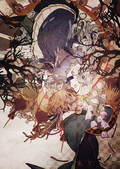This is one very cool anime wallpaper. Its an anime girl plus a scarecrow.