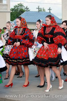 Girls from Turt by wizardnet, via Flickr Folk Costume, Costumes, Romania People, Harajuku, The Incredibles, Culture, Traditional, Country, Beautiful