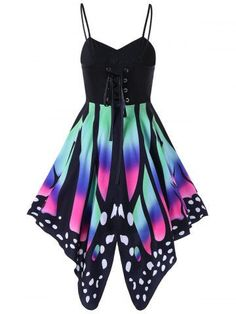 GET $50 NOW | Join RoseGal: Get YOUR $50 NOW!http://m.rosegal.com/print-dresses/butterfly-print-lace-up-summer-1164460.html?seid=9110243rg1164460