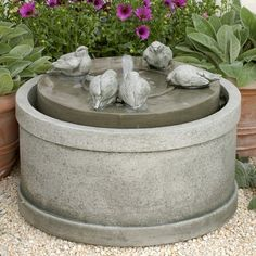 Free Shipping and No Sales Tax on the Passaros Garden Water Fountain from the Outdoor Fountain Pros.