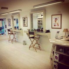 Our beautiful makeup studio.  Making Faces Makeup Studio www.making-faces.ie
