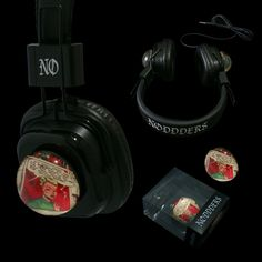 Headphones with attachable glass domes - Limited edition  --------- #goth #gothic #cybergothic #lollita #style #newstyle #vampire #horror #creepy #dark #punk #steampunk #vintage - SHIPPING WORLDWIDE  #red #subculture #unique #rare #limitededition #underground #comics #collection #music #noddders #headphones Marshall Headphones, Audiophile Headphones, Beats By Dre, Akg, Glass Domes, Music Lovers, Vintage Comics, Retro Vintage, Underground Comics