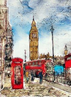 london watercolor - Google Search