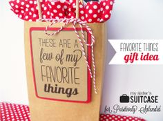 Favorite Things Gift Idea + Free Printables