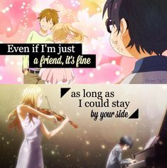 Anime Quotes : Shigatsu wa kimi no uso Did you hear that?That was the sound of my heart shattering watching this anime. Sad Anime Quotes, Manga Quotes, Sad Quotes, Words Quotes, Life Quotes, Couple Quotes, Sayings, April Quotes, Miyazono Kaori