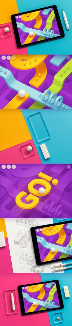 3d flat arcade ios game