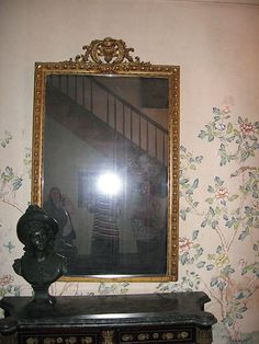 10 Most Haunted objects of all time: The Myrtles Plantation Mirror. A mirror which resides in a haunted house built on a native american burial ground in 1796 and rumoured to be the site of at least ten murders. Guests report seeing figures lurking in the mirror (allegedly the spirits of Sara Woodruff and her children, poisoned to death), as well as child-sized hand prints on the glass.