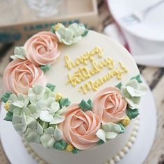 One of our most asked for buttercream floral cakes