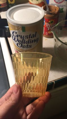 Free glass with Crystal Wedding Oats