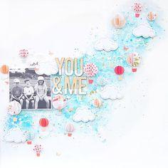You & Me Layout by Elsie Robinson Paper Bag Scrapbook, Love Scrapbook, Scrapbook Page Layouts, Scrapbook Supplies, Scrapbook Pages, Scrapbook Cover, Scrapbook Storage, Scrapbook Organization, Mini Albums