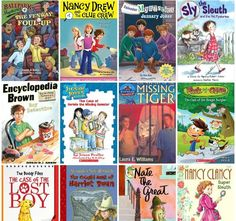 A collection of early chapter books for beginning readers starring kid-detectives and mysteries to be solved.