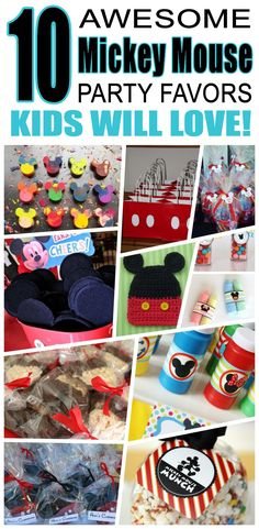 Great mickey mouse party favors kids will love. Fun and cool mickey mouse birthday party favor ideas for children. Easy goody bags, treat bags, gifts and more for boys and girls. Get the best mickey mouse birthday party favors any child would love to take home. Loot bags, loot boxes, goodie bags, candy and more for mickey mouse party celebrations.