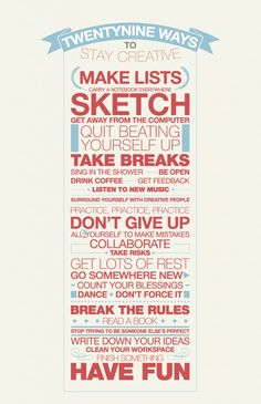 Stay creative – break the rules « CatchPIG