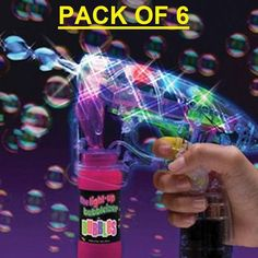 Watch the constant stream of bubbles illuminate from the flashing LED's housed in the gun. It's also ideal for fireworks events and parties and will make you the envy of everybody with it's impressive light up glow and streaming bubbles. | eBay!