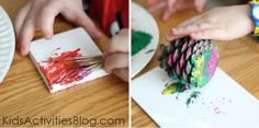 Painting with pine needles