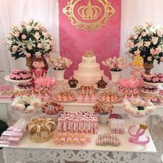 Discover thousands of images about Safari princess party Shower Party, Baby Shower Parties, Baby Shower Themes, Bridal Shower, Shower Ideas, Princess Theme, Baby Shower Princess, Princess Birthday, 1st Birthday Girls