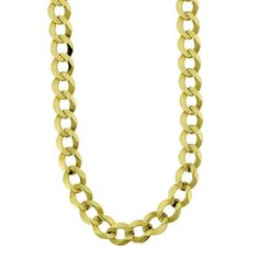 62% Off was $3,650.00, now is $1,386.00! Men`s 14k Gold 7mm Cuban Chain Necklace