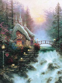 Thomas Kincade - Honeymoon cottage.