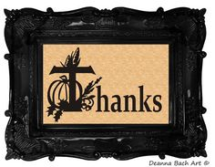 Thanks graphic vinyl decal for Thanksgiving by deannabachart