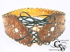laced vintage waspie by paul seville