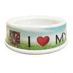 I Love My Dog Bowl 10inch ** To view further for this item, visit the image link. (This is an affiliate link) #DogFeeder