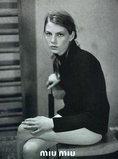 Miu Miu - Peter Lindbergh - Angela Lindvall - 1997SS - ad campaign - fashion ads