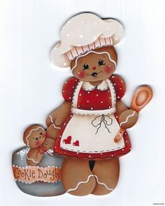 HP GINGERBREAD Baker with Cookie Dough FRIDGE MAGNET