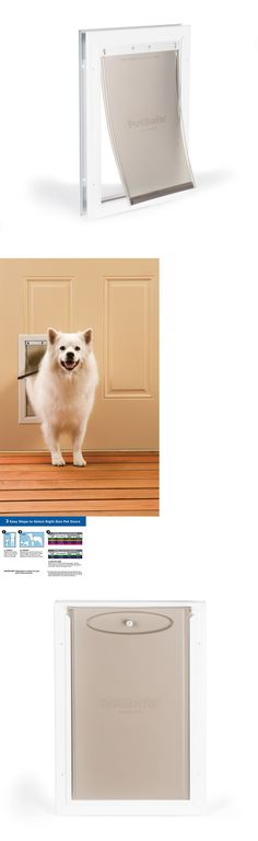 Doors and Flaps 116379: Pet Door Dog Cat Aluminum Patio Medium Wall Magnetic Flap Weather Protector BUY IT NOW ONLY: $70.47