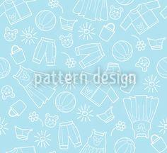 Heavenly Childrens World Repeat Vector Pattern, Vector File, Blue Backgrounds, Surface Design, Outline, Baby Shower, Joy, Patterns, World
