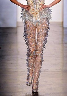 The Blonds Haute Couture ~ Spring 2013 ~ New York Fashion Week Couture Fashion, Runway Fashion, High Fashion, Fashion Show, Womens Fashion, Fashion Fashion, Fashion Outfits, New York Fashion, Crystal Fashion