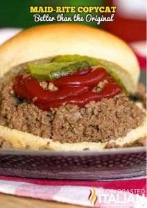 This recipe for Maid-Rite Copycat Loose Meat Sandwiches is a near replica of the beloved Maid-Rite sandwich, but can be made right from your kitchen. Easy meals with ground beef like this one make the perfect weeknight meals.