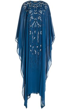 ROBERTO CAVALLI Embellished Silk Maxi-Dress. #robertocavalli #cloth #dresses
