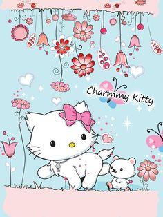 Charmmy Kitty and Sugar . Sanrio Hello Kitty, Hello Kitty Art, Hello Kitty Pictures, Hello Kitty Items, Hello Kitty Accessories, Pochacco, Vintage My Little Pony, Kawaii Room, Hello Kitty Wallpaper