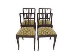 4 Stühle Stuhl Lehnstuhl Polstermöbel Antik um 1930 Massivholz (4403)