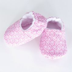 Pink Baby Girl Shoes- baby girl pink baby shoes pink baby girl pink booties crib shoes newborn girl baby slippers, Pink Hearts by GingerLous on Etsy https://www.etsy.com/listing/177438180/pink-baby-girl-shoes-baby-girl-pink-baby