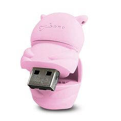 Owl Flash Drive, Pink, 4GB, Bone Collection, DR10021-4P $24.95