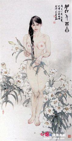 组图:天津著名画家何家英工笔人体画赏析