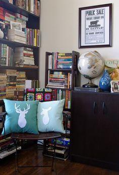 Buck head Deer Pillow - Custom Color. $38.00, via Etsy.
