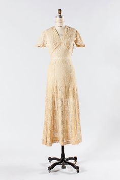 1930s dress small medium / 30s sheer dress