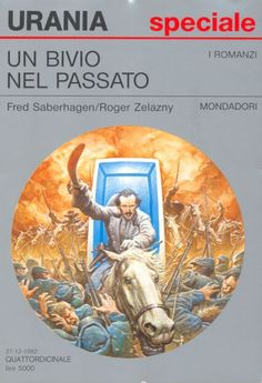 1195 	 UN BIVIO NEL PASSATO 27/12/1992 	 THE BLACK THRONE (1990)  Copertina di  Oscar Chichoni 	  FRED SABERHAGEN / ROGER ZELAZNY