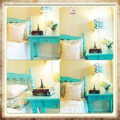 Aqua bedroom. Love love love