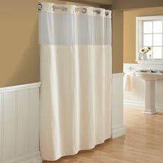 Hookless® Waffle Cream 72' x 86' Fabric Shower Curtain and Liner Set - Bed Bath & Beyond - $49.99